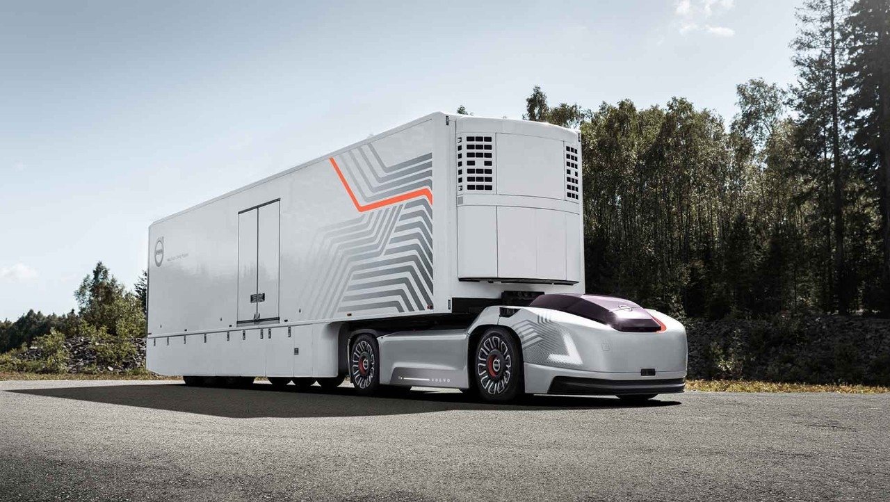 A Volvo truck with the system Vera, who coordinates electric and autonomous vehicles