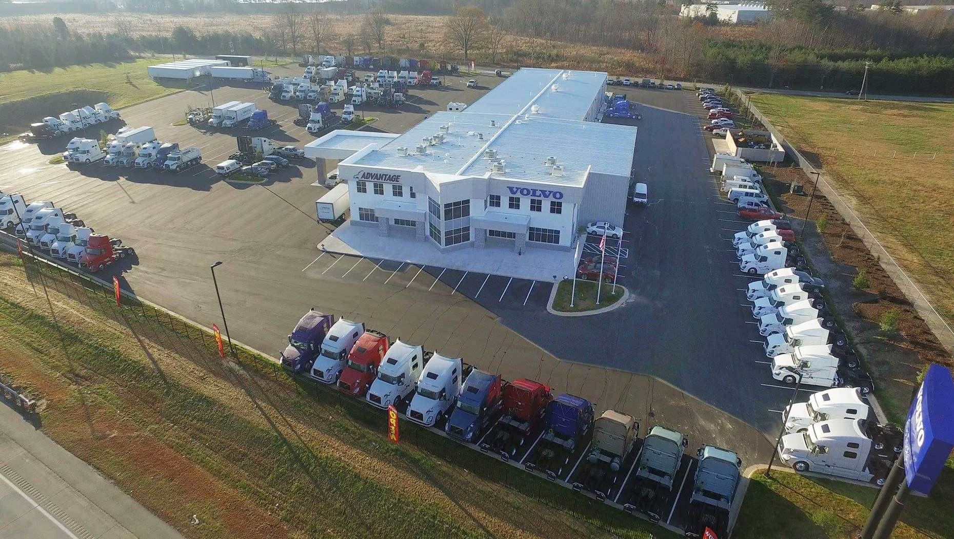 Volvo Trucks North America names Advantage Truck Center as its 2020 North American Dealer Group of the Year. Their Greensboro, North Carolina facility is shown here.