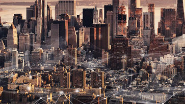 Sky view of New York