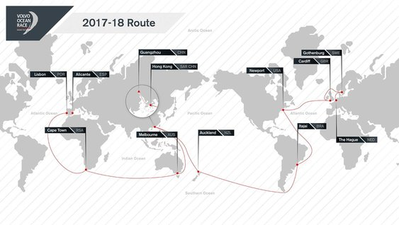 Volvo Ocean Race 2017-18 Route