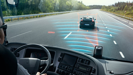 Volvo Buses - Collision Warning and Emergency Braking and Lane Keeping Support