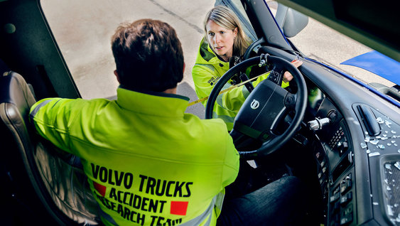 "The Volvo Group Accident Research works with the safety vision ""zero accidents""."
