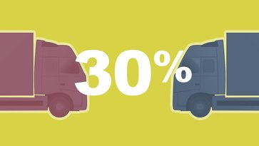 30% of accidents that result in an injury to truck occupants are collisions between two trucks