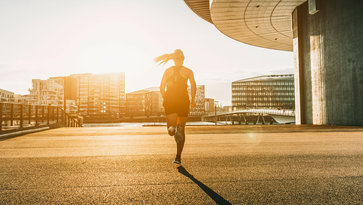 Woman running | Career Development at Volvo Group