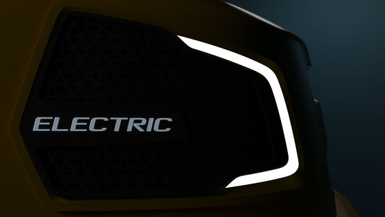 The logo for Volvo Groups concept about Electric vehicles