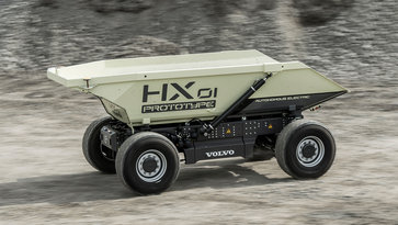 HX 01 Prototype, an autonomous truck from Volvo Group