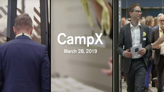 Launch of CampX promo in Gothenburg March 28, 2019