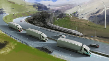 Three conceptual Volvo trucks for the concept Volvo Group Connect - Automation, electrification and connectivity