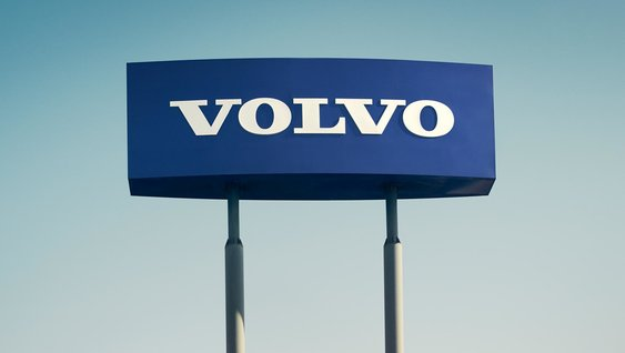 Blue Volvo sign