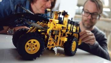 Lego model of Construction Equipment