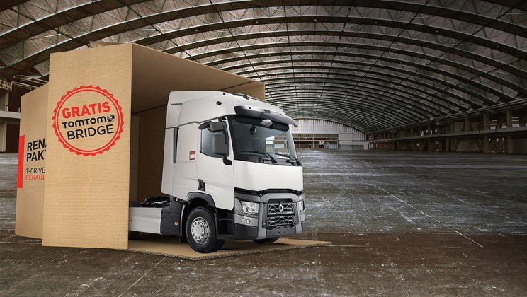 The Renault Trucks T-Drive that is being sold online in the Netherlands.