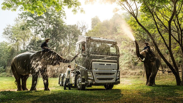 Image from the Volvo Group Sustainability Report 2014.
