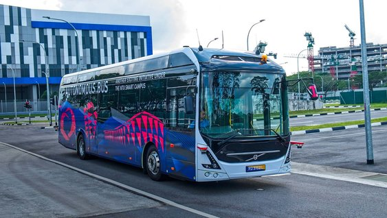 The all-electric Volvo 7900 bus