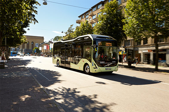 Volvo electric bus in Gothenburg, Sweden