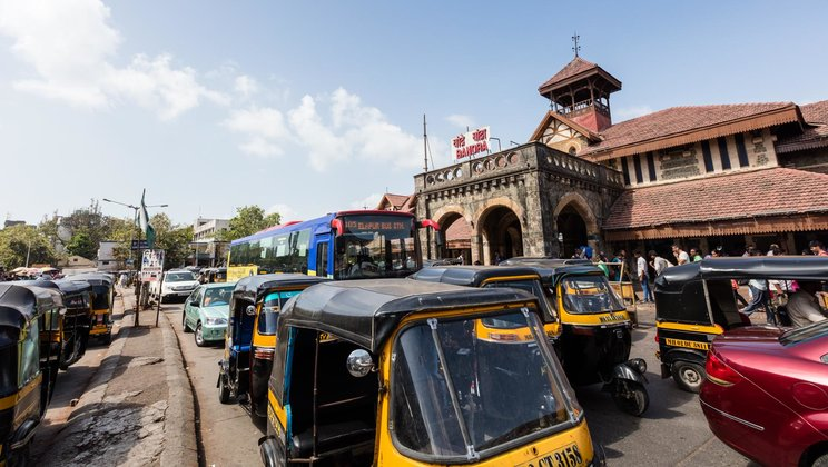 The Bandra train station
