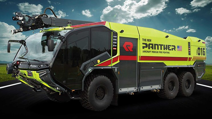 New Rosenbauer Aircraft Rescue and Firefighting Vehicle Powered by Volvo Penta