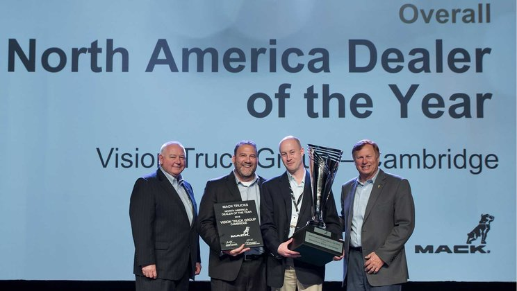 Vision Truck Group Named Mack's  2016 North American Dealer of the Year