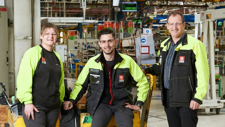 Three employees from the Bourg plant