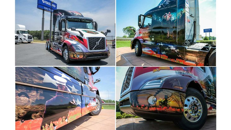 "Volvo Trucks Honors Military Heroes with New Volvo VNR ""Ride for Freedom"" Truck"