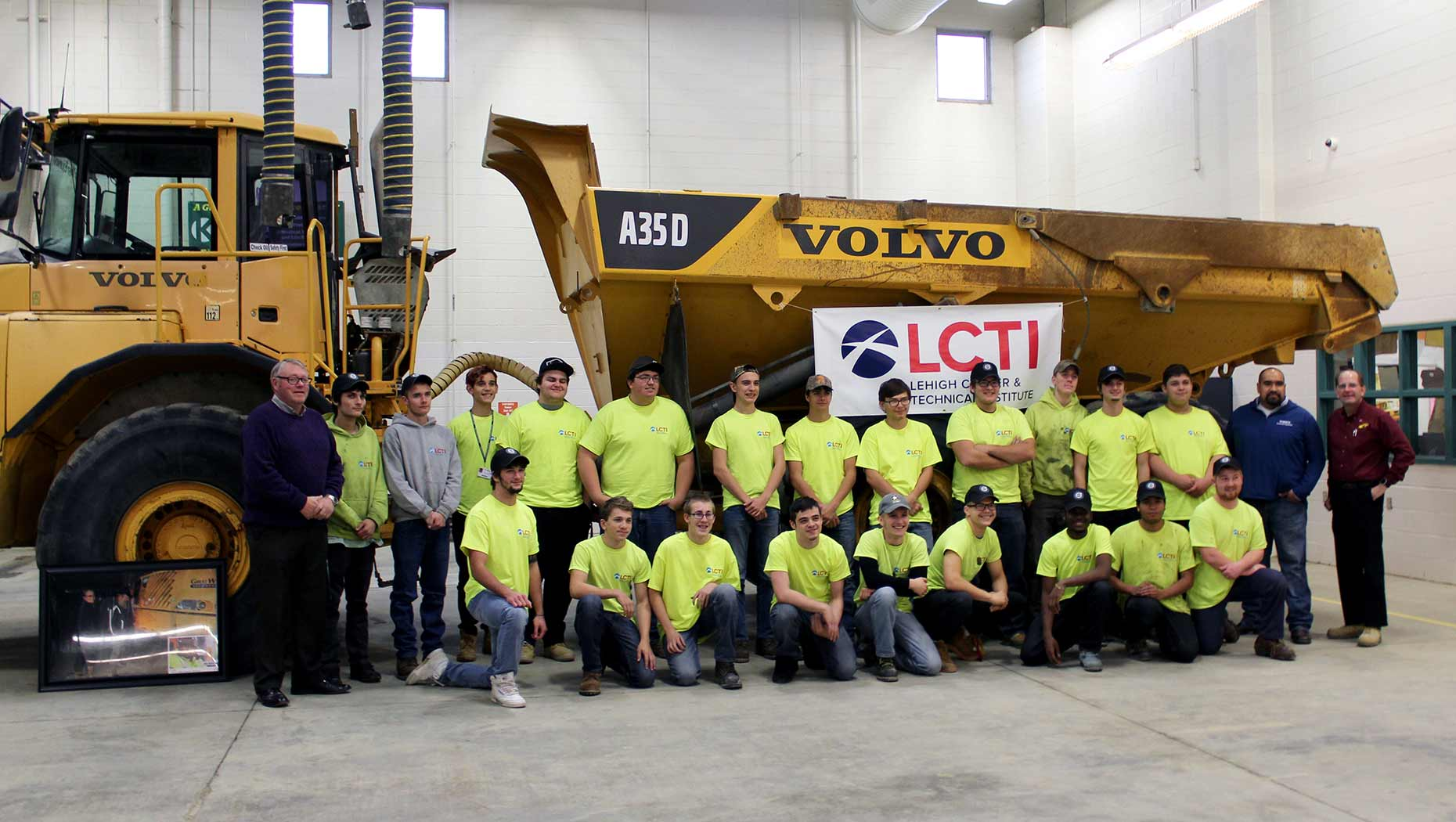Career-tech-school-receives-Gold-Rush-haul-truck-from-Volvo-CE