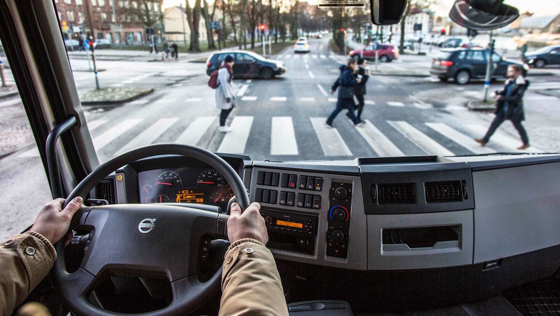 How to protect cyclists and pedestrians   Volvo Group