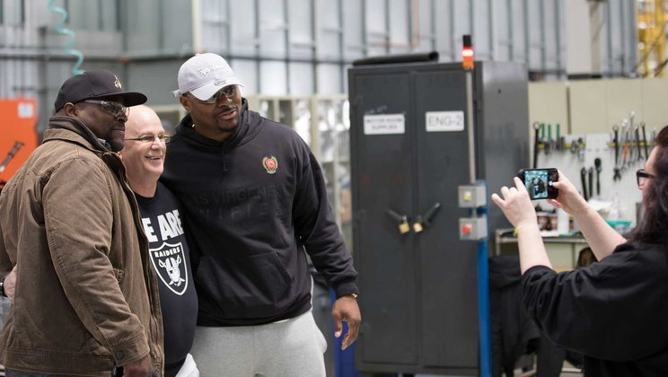 Mack Trucks Shows Khalil Mack the Definition of  'Built Like a Mack Truck'