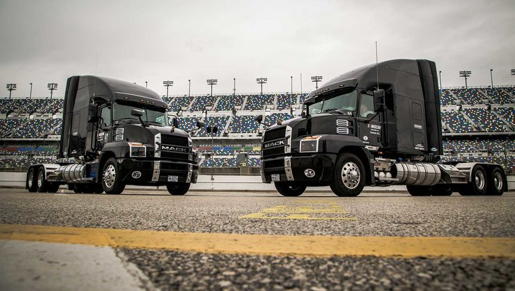 Mack Anthem® is Born Ready to Deliver  NASCAR's 2018 Season