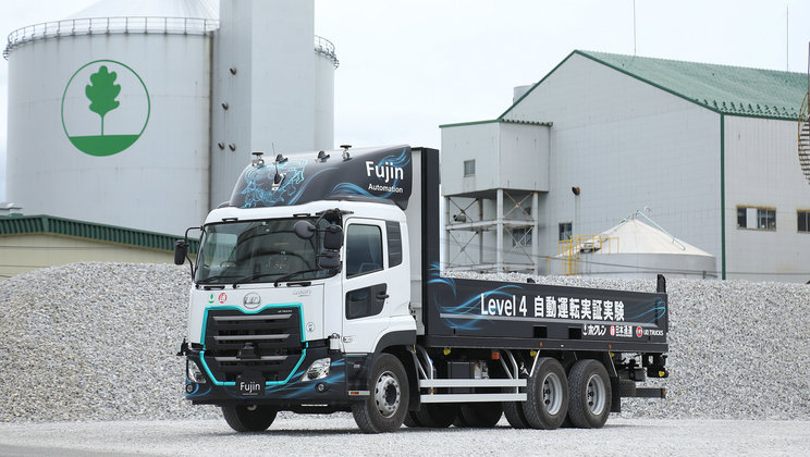 UD Trucks conduct Japan's first autonomous driving test by heavy-duty trucks