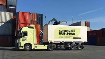 Autonomous Volvo truck for hub-to-hub transportations
