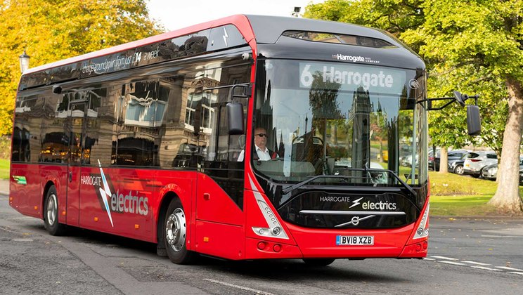 The first electric bus in Ireland to be delivered by Volvo