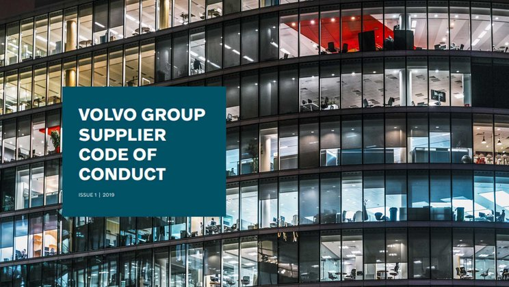 Volvo Group launches Supplier Code of Conduct