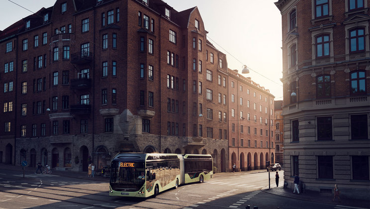 Volvo Buses launches new electric articulated bus – world premiere at Busworld