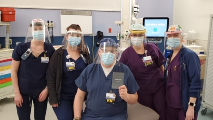 Volvo CE produces and donates personal protective equipment to local healthcare workers