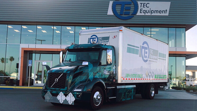 Volvo Trucks Deploys First Pilot All-Electric VNR Truck at TEC Equipment in Southern California