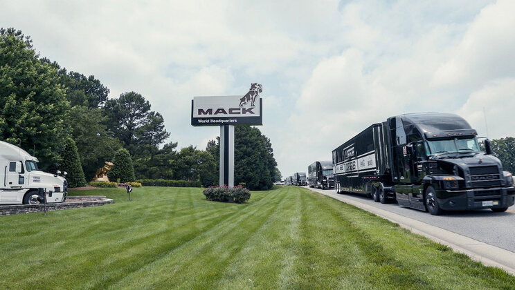 Mack Trucks, NASCAR Thank Truckers, Frontline  Hospital Workers with Mack Anthem® Hauler Parade