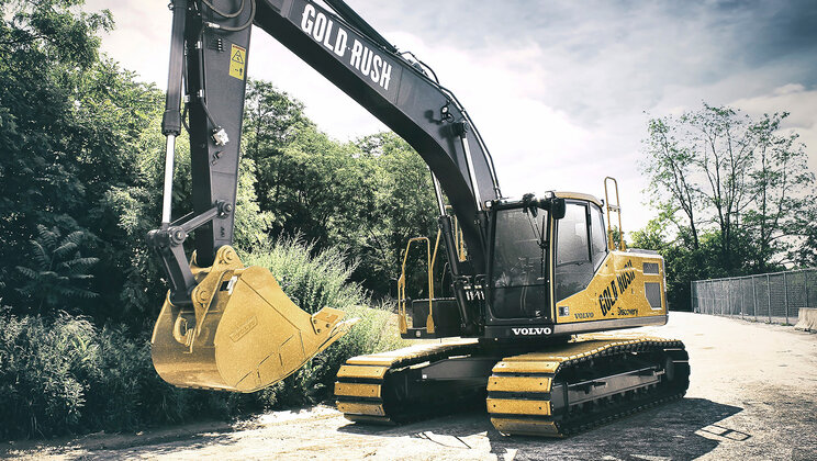 Volvo CE donates $290,000 to two nonprofits from Gold Rush excavator auction