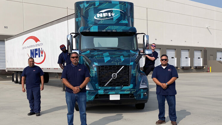 NFI Begins Piloting Volvo VNR Electric Heavy-Duty Trucks in Southern California