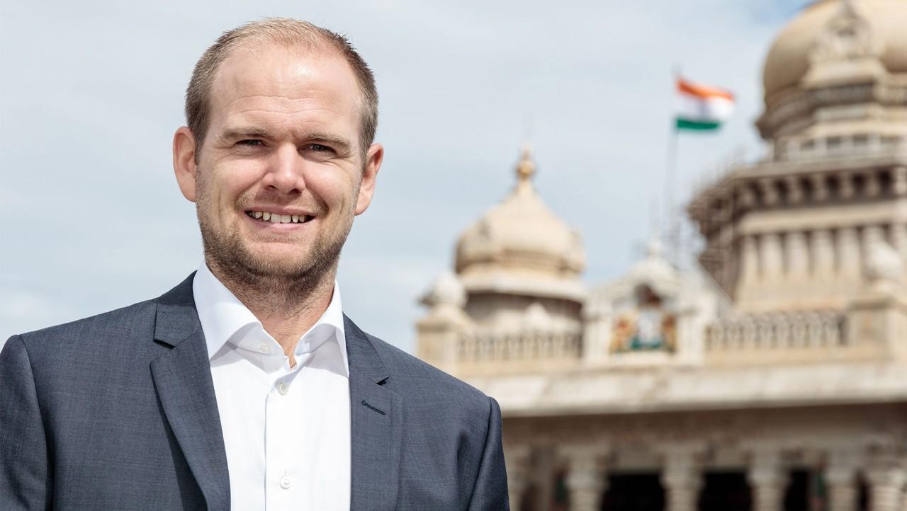 Andreas Roupé, collaborateur du groupe Volvo, s'est installé à Bangalore pour une expérience internationale