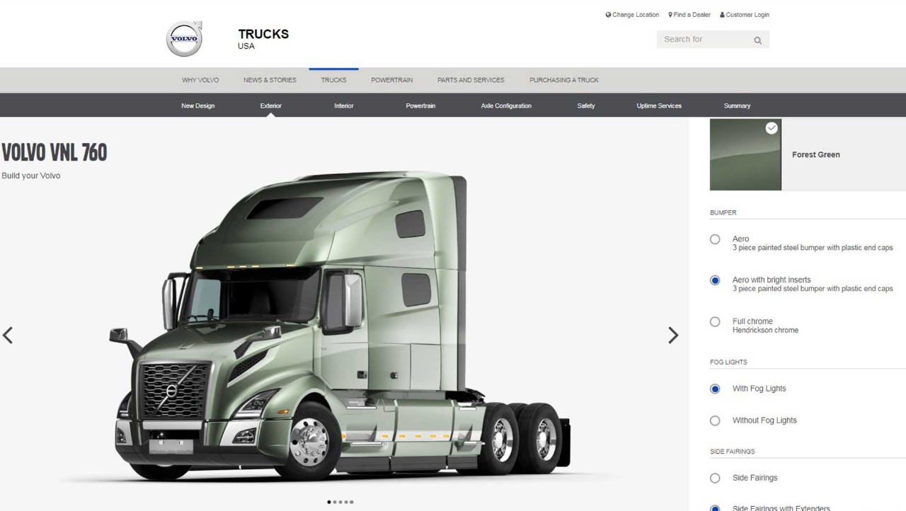 Volvo Trucks Rolls Out Online Configurator to Virtually Design and Spec New Volvo VNR and VNL Models