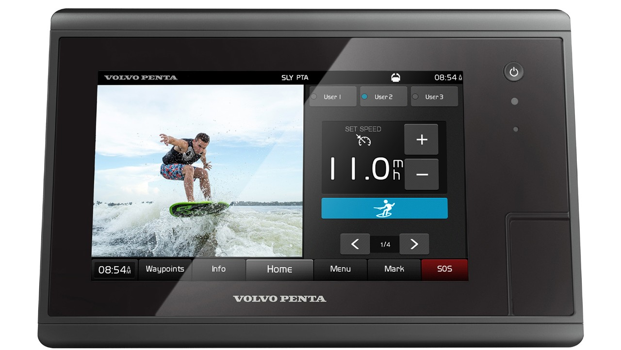 Volvo Penta Unveils Control and Display System for Wake Surfing and Water Sports