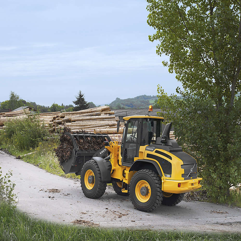 Volvo CE L45H and L50H wheel loaders now offered with high-speed driveline