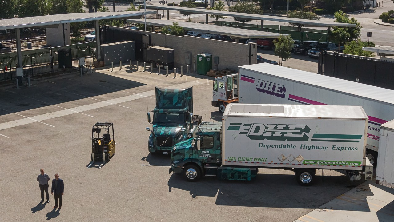 Volvo Trucks' Customer Dependable Highway Express Reduces Carbon Footprint by Electrifying Southern California Distribution Facility